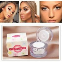 White Color Makeup Eye Shadow Palette Shimmer Glitter Eyeshadow Highlight Powder