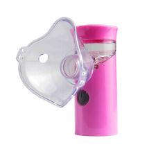 Portable USB Mesh Rechargeable Nebulizer Handheld Ultrasonic Mist Inhaler Pink