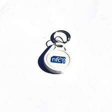 10 NFC BIANCO ABS Portachiavi/Portachiavi NXP Ntag 213 Android Samsung