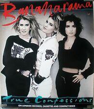 RARE BANANARAMA TRUE CONFESSIONS 1986 VINTAGE RECORD MUSIC STORE PROMO POSTER