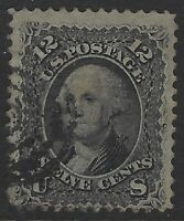 US Stamps - Scott # 97 - 12c Washington - F Grill                        (L-527)
