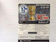 Sammlerkarte Knappenkarte Schalke04-1Fc Union Berlin Dfb Pokalfinale 26.Mai 2001