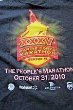 USMC Marine Corps Marathon SEMPER FI October 31, 2010 Black Shirt Sz XL