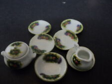 DOLLHOUSE SPRING GARDEN DISH SET- 7-PC.