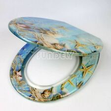 Toilet Seat Resin 3D Novelty Design with Easy Fit Chrome Hinges Bathroom