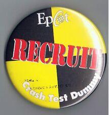 "Epcot Crash Test Dummy Recruit Cast Member 3"" Pinback Button Disney Advertising"