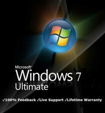 Microsoft Windows 7 Ultimate 32 or 64 BIT  Genuine License Key Product Code