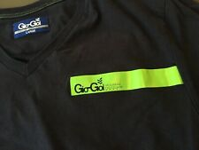 Gio Goi Black T shirt with green logo fron and reverse size large