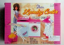 GLORIA DOLLHOUSE FURNITURE LAUNDRY CENTER WASHER & DRYER Hangers set FOR BARBIE