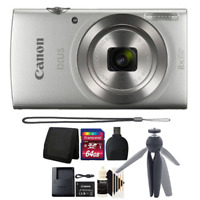 Canon Ixus 185 / Elph 180 20MP Digital Camera Silver with 64GB Accessory Kit