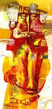 Old Man/original huile sur carton par Sergej hahonin/25 x 12 cm