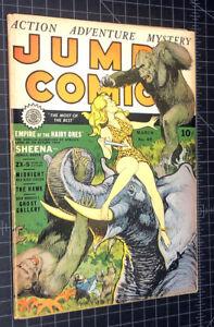 JUMBO COMICS #49. 1943 Classic Sheena Good Girl Art. Fiction House. Gorgeous!