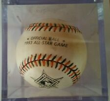 Rawlings 1993 MLB Baseball All Star Game Official Ball Baltimore Orioles & Cube