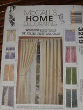 McCall's 3219 Essentials Window De Jolies Indispensables uncut