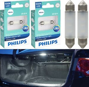 Philips Ultinon LED Light DE3423 White 6000K Two Bulbs Trunk Cargo Replace Lamp