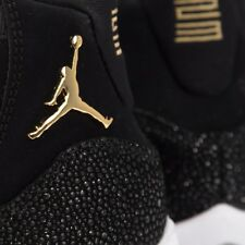 the latest 3670a 49b4a Nike Air Jordan XI 11 GOLD Black Retro 10Y OVO 12 Wings GG DMP 852625-