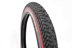 """Khe Mvp Bmx Bike Tyre Street 20""""X2.30"""", Black With Red Pinline"""