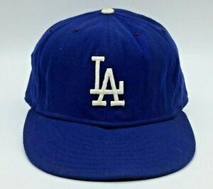 vintage Los Angeles Dodgers LA Hat Cap Blue Fitted Size 7 1/2 New Era Pro Model
