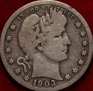 1903-S San Francisco Mint Silver Barber Quarter