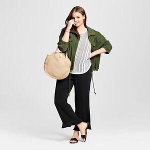 Womens Ruffle Hem Crop Pants Black - Who What Wear Size 4-16 $33 OCFO