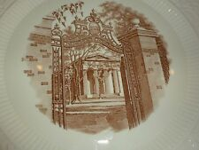 Vintage Wedgwood Brown University 1872 Gates-Manning Hall, White/Brown