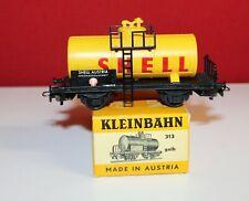 Kleinbahn-H0-595 342-SHELL Tankwagen-Zinkalrahmen/Geländer -2-achsig-OVP