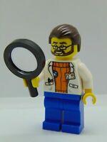 LEGO City Minifigure Arctic Scientist Dark Brown Hair Beard cty0494 60036