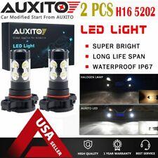 2X H16 PS24W 5202 Fog Light Driving DRL Bulb LED 6500K High Power White lamp EOA