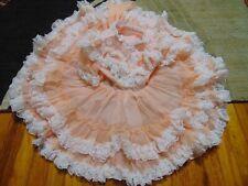 Vintage Girls Pazazz USA MADE size 4 dress ruffles lace matching bloomers