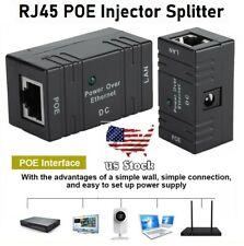Passive POE Injector for IP Camera Netwrok AP Device 5V- 52V RJ45 DC plug lot
