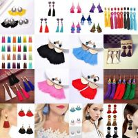 2019 Fashion Women Bohemian Earring Vintage Long Tassel Fringe Dangle Earrings