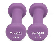 Yes4All Hand Exercise Neoprene Coated Pair Dumbbell Weight 2 Lbs - ²dat7h2