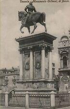 32090 VENICE venezia antica cartolina   MONUMENTO COLLEONI DI FIANCO