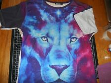 4 Vintage Unisex Graphic 3D Animal Print Short Sleeve T-Shirts Size Large