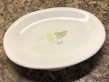 "RAE DUNN Oval Plate Serving Platter ""zest"" Artisan Collection by Magenta RARE"