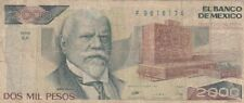 1989 Mexico 2,000 Pesos Note, Pick 86c