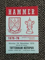 West Ham v Tottenham Spurs 1975 LEAGUE CUP 4TH ROUND REPLAY 24/11/75! LAST ONE!