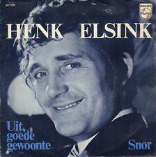 """HENK ELSINK – Uit, Goede Gewoonte / Snor (1970 VINYL SINGLE 7"""")"""
