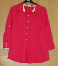 Ladies Van Heusen Bright Pink 3/4 Sleeve Cotton Top Size XL