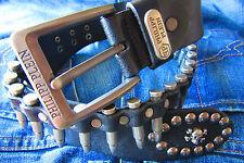 Philipp Plein Gürtel  Leder Gürtel mit patronen belt Gr.105 Accessoires wie neu