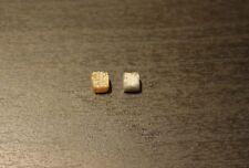 Edelsteine24 Echte Rohdiamant Würfel grau-braun 2 Stück 2,10ct. 4,1mm! D-35