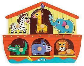 Janod Puzzle Noah's Ark Wooden 6pc