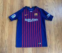 Barcelona FC Nike Lionel Messi 2018 Jersey Kids XL EUC Futbol La Liga Soccer