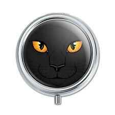 Black Cat Face Pet Kitty Pill Case Trinket Gift Box