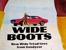 1967-1968 CHEVY CAMARO - GOODYEAR TIRE AD-302/350/396 v8 engine/door/hood/bumper