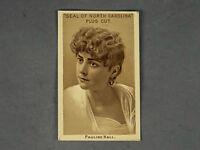 1888 Seal of North Carolina Plug Cut Tobacco Card of Actress Pauline Hall C.D.V.