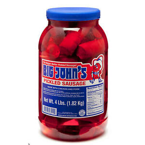 Big John's Pickled Sausages 4LB Jar