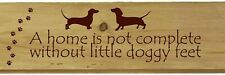 More details for personalised sausage dog home sign novelty dachshund garden gifts shed kitchen