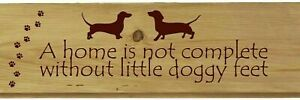 Personalised Sausage Dog Home Sign Novelty Dachshund Garden Gifts Shed Kitchen