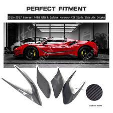 Carbon Fiber MS 4XX Side Air Intake Fins For 15-17 Ferrari F488 GTB & Spider